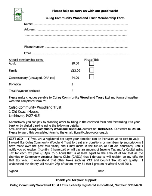 CCWT Membership form 2016