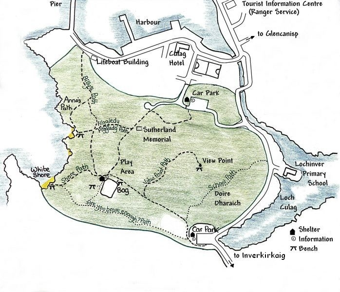 Culag Woods map